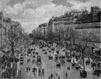 К. Писсарро. Бульвар Монмартр в Париже. 1897 г.