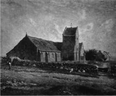 Ж. Ф. Милле. Церковь в Гревилле. 1871 г.