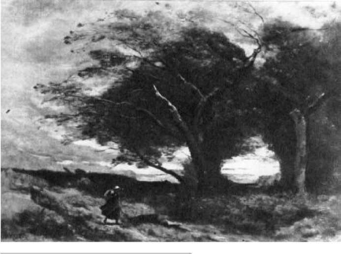 К. Коро. Порыв ветра. Ок. 1865-1870 гг.