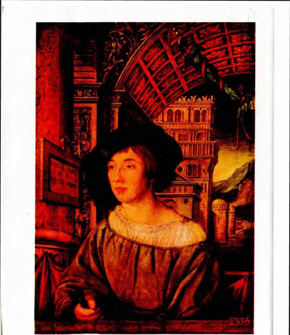 А. Гольбейн. Портрет молодого человека.
