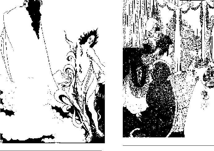 О. Бёрдсли. Обложка к журналу «Савой». 1896 г.  О. Бёрдсли. Туалет. Иллюстрация к поэме А. Пуопа «Похищение локона». 1896 г.