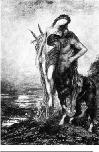Г. Моро. Мертвый поэт и Кентавр. Ок. 1875 г.
