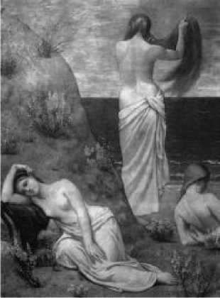 П. Пюви де Шаванн. Девушки у моря. 1879 г.