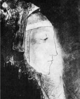 О. Редон. Профиль света. 1881-1886 гг.