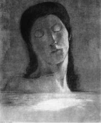 О. Редон. Закрытые глаза. 1890 г.