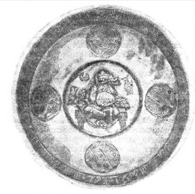 Рис. 132. Изображение игры на уде на серебряной чаше (предположительно датируется XI веком н. р.).