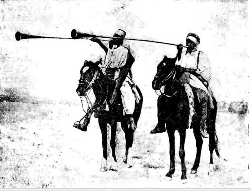 Рис. 123. Арабские трубачи.