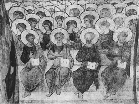 А. Рублев, Д. Черный. Апостолы и ангелы