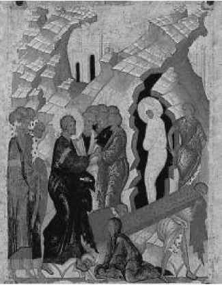 А. Рублев. Воскрешение праведного Лазаря