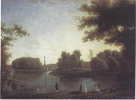 Семен Щедрин. В Царскосельском парке. Холст, масло. 91 х 126 см Государственная Третьяковская галерея