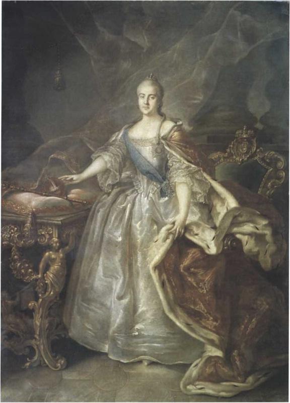 Иван Аргунов. Портрет Екатерины II. 1762. Холст, масло. 245 X 176,3 см. Государственный Русский музей