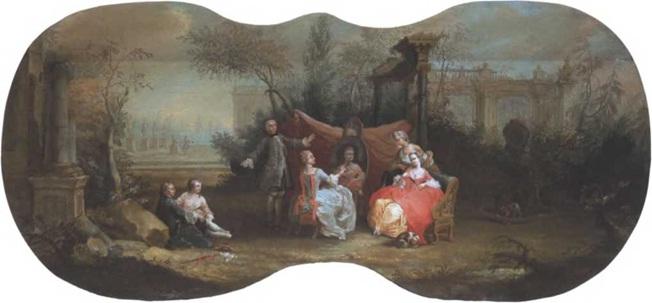 Борис Суходольский. Астрономия. Около 1754. Десюдепорт Холст, масло. 100 х 210 см. Государственная Третьяковская галерея
