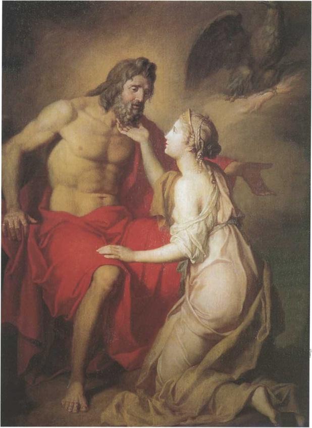 Антон Лосенко. Зевс и Фетида. 1769 Холст, масло. 172 х 126 см. Государственный Русский музей