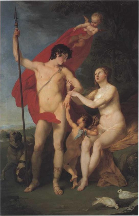 Петр Соколов. Венера и Адонис 1782. Холст, масло 252 х 165 см Государственный Русский музей