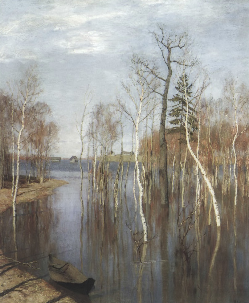 ИСААК ЛЕВИТАН. Весна — большая вода. 1897. Холст, масло. 64,2 х 57,5 см. Государственная Третьяковская галерея