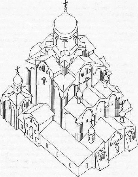 Троицкии собор в Пскове. Реконструкция Ю. П. Спегальского