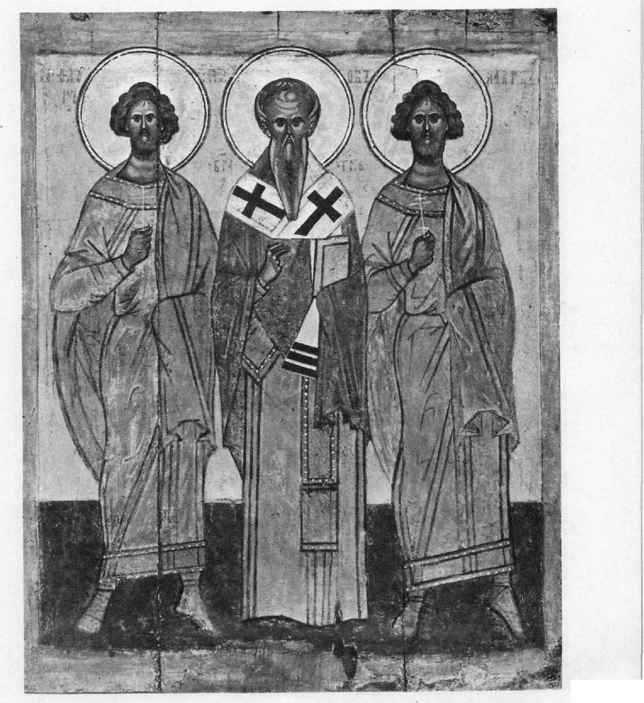 50.Флор, Иаков и Лавр. Икона. Начало XV в.