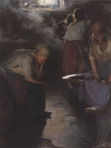 АБРАМ АРХИПОВ. Прачки. Конец 1890-х. Холст, масло. 91 х 70 см. Государственная Третьяковская галерея