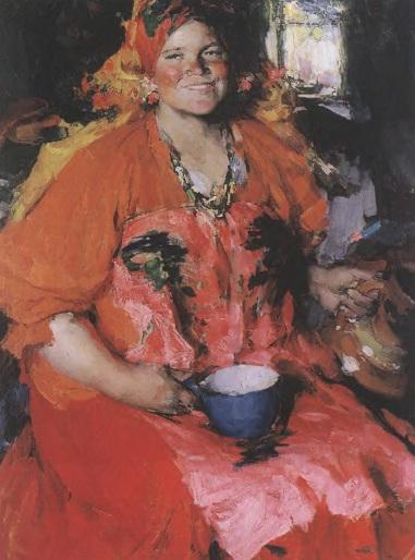 АБРАМ АРХИПОВ. Девушка с кувшином. 1927. Холст, масло. 108 х 87 см. Государственная Третьяковская галерея