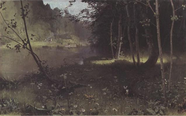 НИКОЛАЙ ДУБОВСКОЙ. Лесная река. Холст, масло. 69 х 106 см. Одесский художественный музей
