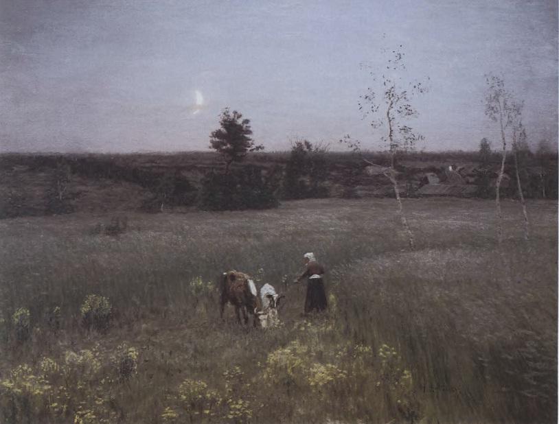 НИКОЛАЙ ДУБОВСКОЙ Сумерки. 1897 Холст, масло. 52 х 70 см Государственная Третьяковская галерея
