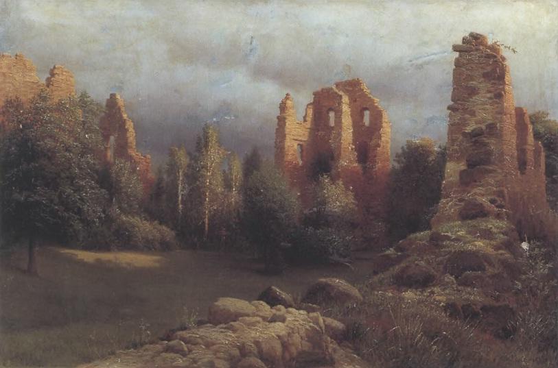 ГАВРИИЛ КОНДРАТЕНКО. Руины старого замка. Холст, масло. 63 х 94 см. Художественный музей, Горловка