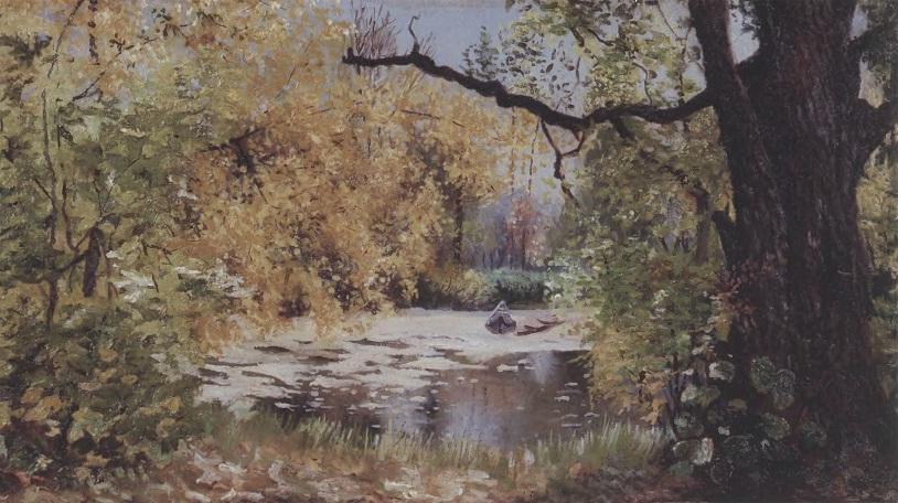 ИЛЬЯ ОСТРОУХОВ. Осенний пейзаж. Холст, масло Частное собрание