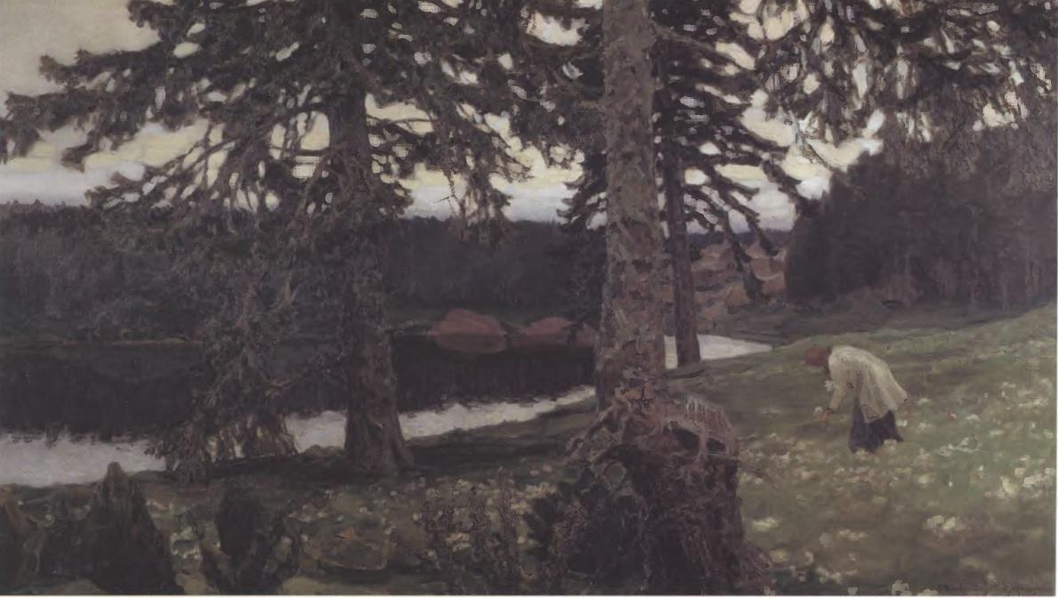 АПОЛЛИНАРИЙ ВАСНЕЦОВ. Озеро. 1902. Холст, масло. 124,2 х 211 см. Государственная Третьяковская галерея