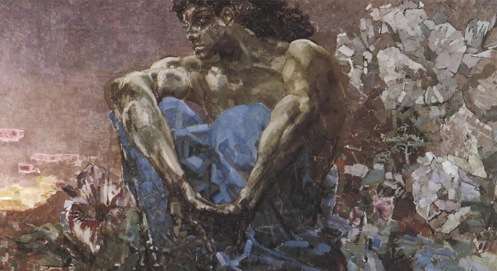 МИХАИЛ ВРУБЕЛЬ. Демон. 1890. Холст, масло. 114 х 211 см. Государственная Третьяковская галерея