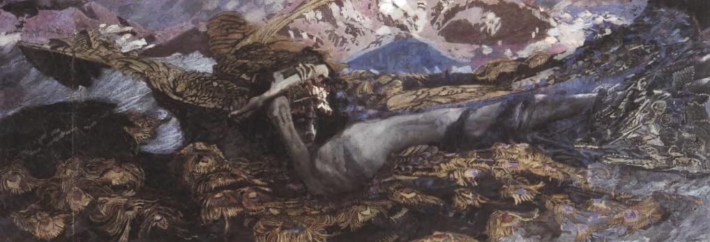 МИХАИЛ ВРУБЕЛЬ. Демон поверженный. 1902. Холст, масло. 139 х 387 см. Государственная Третьяковская галерея
