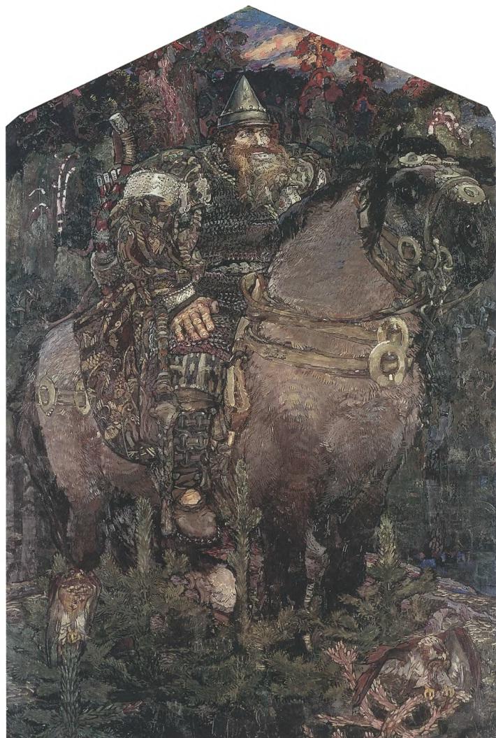 МИХАИЛ ВРУБЕЛЬ. Богатырь. 1898. Холст, масло. 321,5 х 222 см. Государственный Русский музей