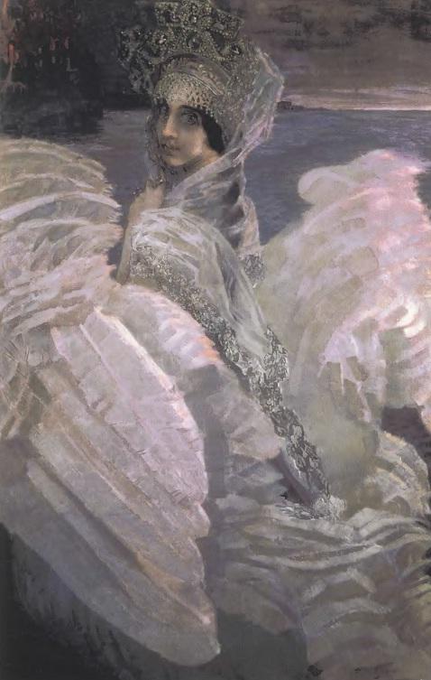 МИХАИЛ ВРУБЕЛЬ. Царевна-Лебедь. 1900. Холст, масло 142,5x 93,5 см. Государственная Третьяковская галерея
