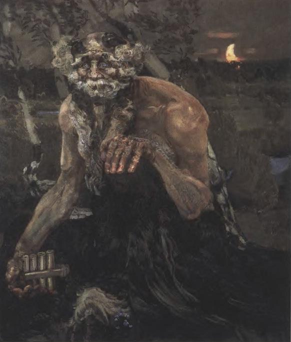 МИХАИЛ ВРУБЕЛЬ Пан. 1899. Холст, масло. 124 х 106,3 см. Государственная Третьяковская галерея
