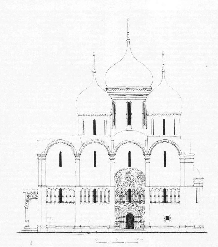Успенский собор в Московском Кремле. Южный фасад.