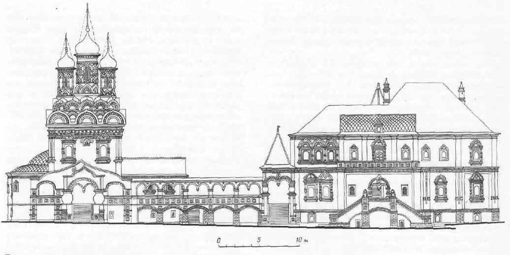 Поганкнны палаты в Пскове. Реконструкция Ю. П. Спегальского