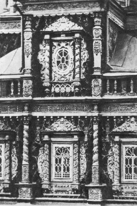 105. Рождественская церковь в Нижнем Новгороде (Горький) До 1718. Деталь фасада.