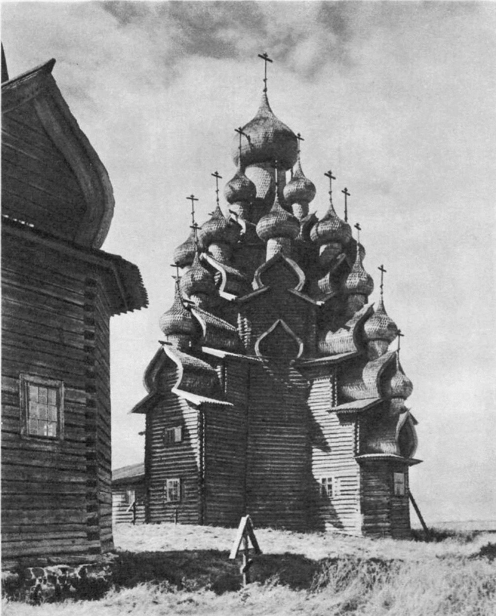 93.Преображенская церковь в Ки¬жах. 1714