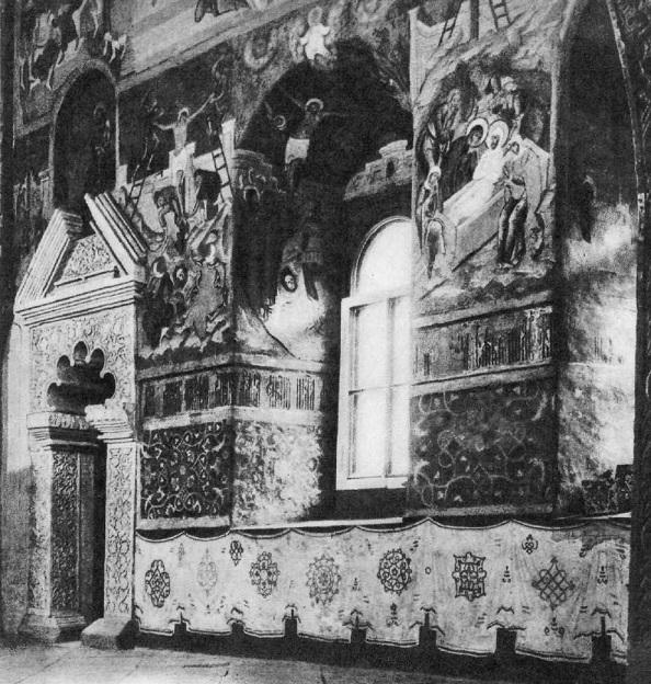 110. Фрагмент росписи церкви Троицы в Никитниках. 1652-1653.  Москва