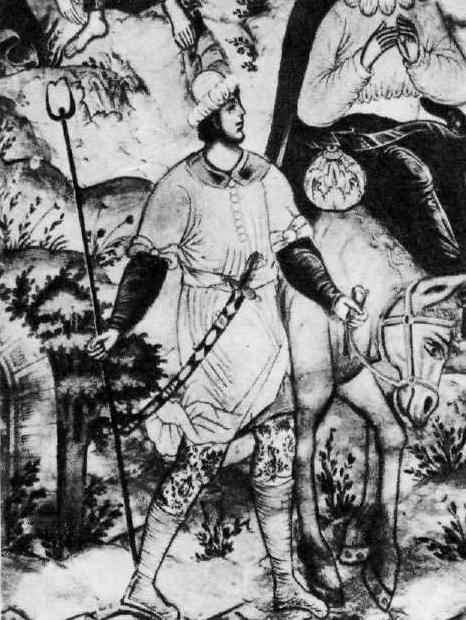 Гурий Никитин с артелью. Фрагмент росписи в церкви Ильи Пророка в Ярославле. 1681.