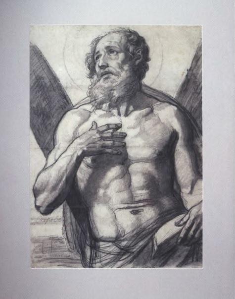 АЛЕКСЕЙ ЕГОРОВ. Апостол Андрей Первозванный. 1835. Бумага, карандаш