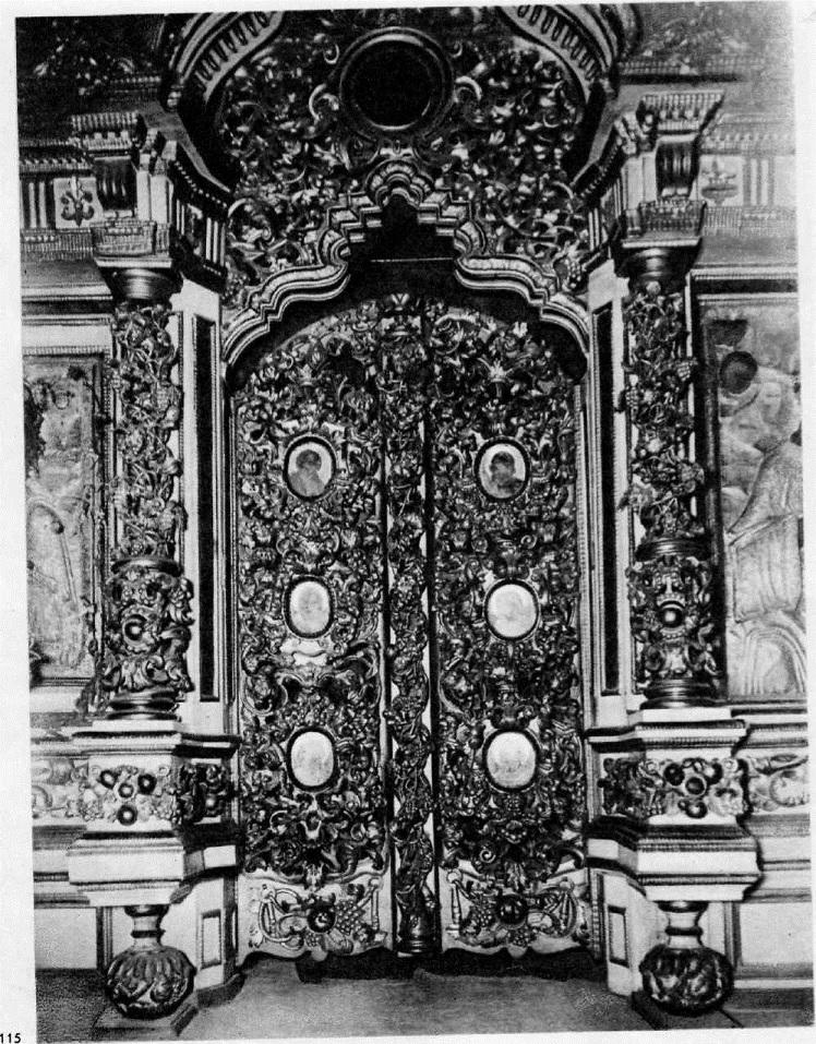 115. Царские врата из церкви Успения на Покровке в Москве. 1696