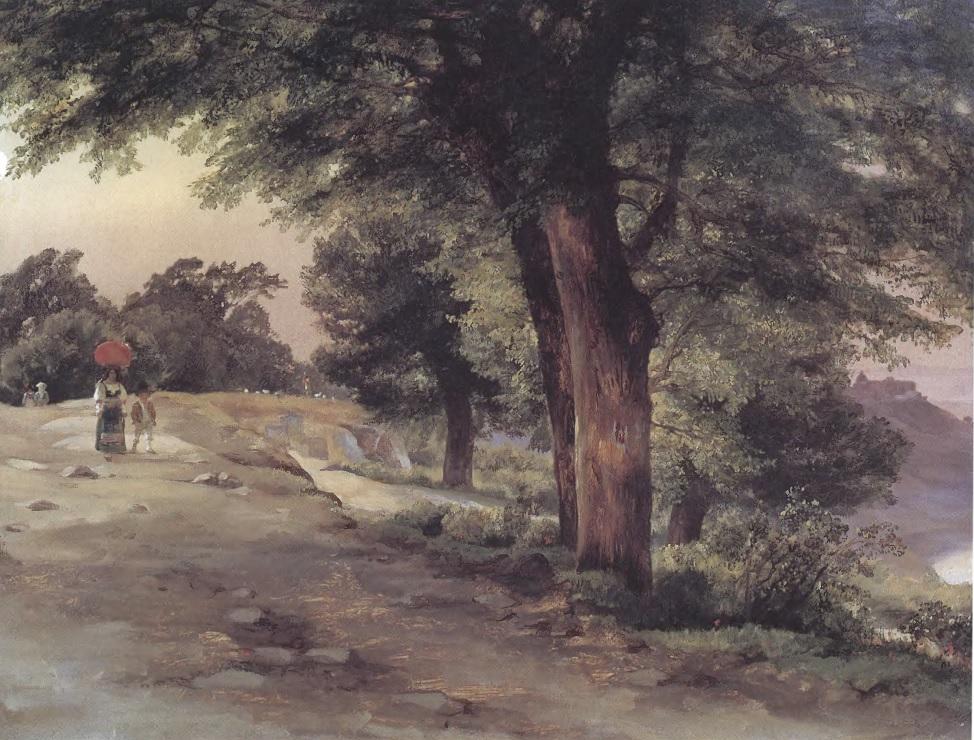 МИХАИЛ ЛЕБЕДЕВ. В парке Гиджи. 1837. Холст, масло. 57 х 73,7 см. Государственная Третьяковская галерея