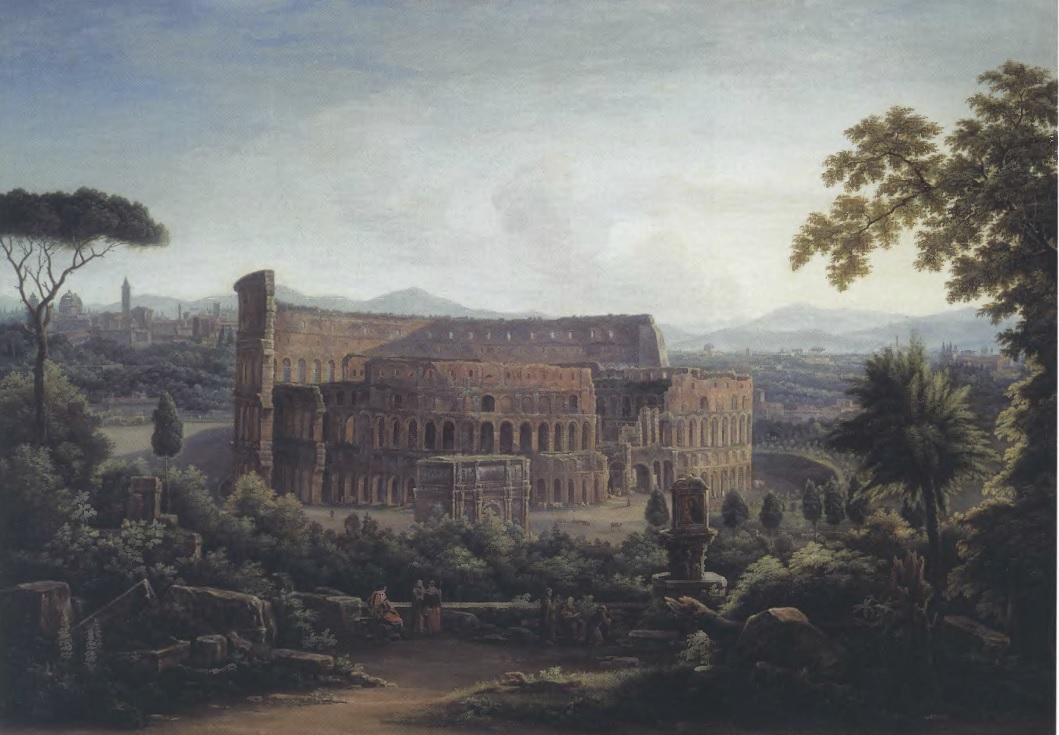 ФЕДОР МАТВЕЕВ. Вид Рима. Колизей. 1816. Холст, масло. 135 х 194,3 см. Государственная Третьяковская галерея
