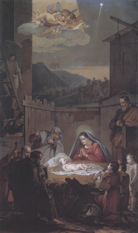 ВАСИЛИЙ ШЕБУЕВ. Рождество Христово. 1847. Холст, масло. 233 х 139,5 см. Государственная Третьяковская галерея