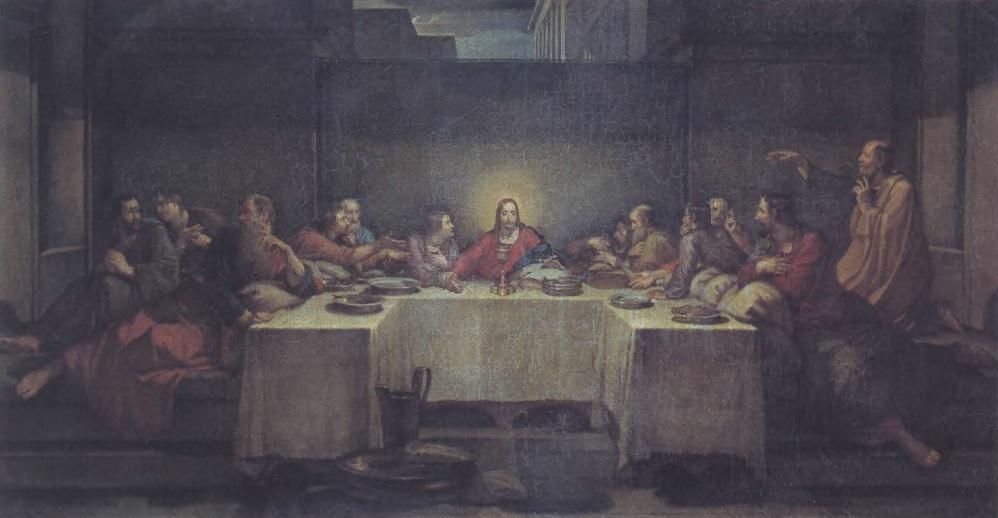 ВАСИЛИЙ ШЕБУЕВ. Тайная вечеря. 1838-1839. Холст, масло. 80,6 х 152 см. Государственная Третьяковская галерея