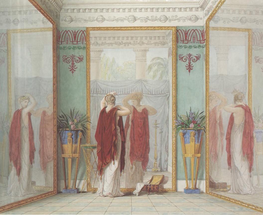 ФЕДОР ТОЛСТОЙ. Душенька любуется собою в зеркало. 1821 Бумага, акварель. Государственная Третьяковская галерея