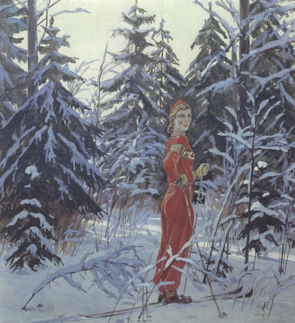 АЛЕКСАНДР ДЕЙНЕКА Снегурочка. 1954. Холст, масло 113 х 100,5 см. Тамбовская областная картинная галерея