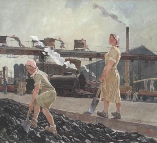 АЛЕКСАНДР ДЕЙНЕКА. Донбасс. 1947. Холст, масло. Государственная Третьяковская галерея