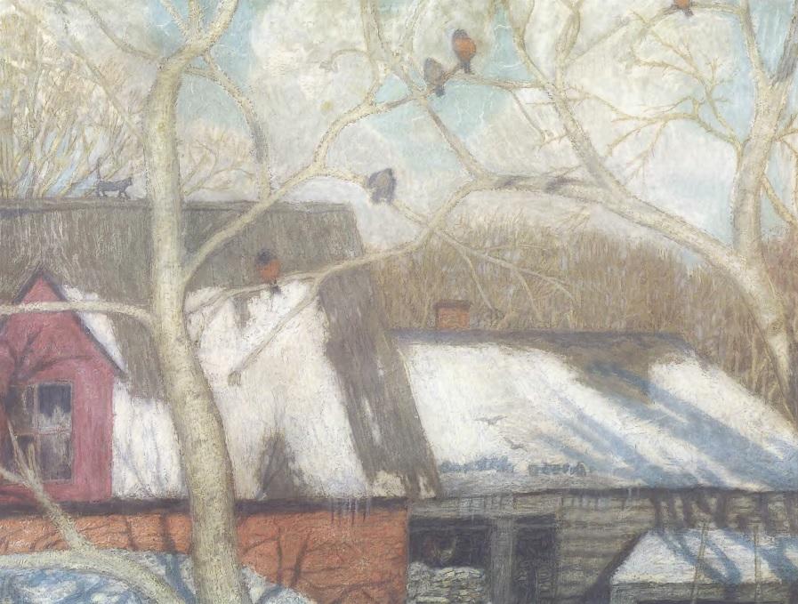 НИКОЛАЙ КРЫМОВ. К весне. 1907. Холст, масло. 52 х 71 см. Государственная Третьяковская галерея