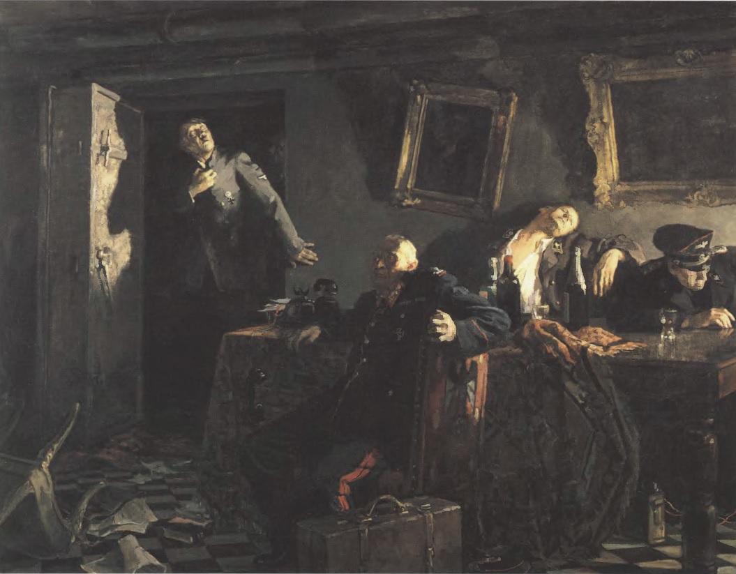 КУКРЫНИКСЫ. Конец. 1947-1948 Холст, масло. 200 х 251 см. Государственная Третьяковская галерея